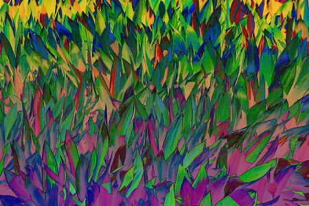 Beautiful colorful tropical leaves background. Summer concept. Africa, island Zanzibar. Ti plant or Cordyline fruticosa leaves, colorful exotic foliage.