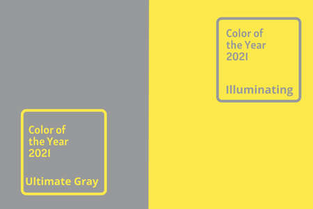 Abstract bright illuminating yellow and gray colours background. Trendy colors of the year 2021 - Gray and Yellow.