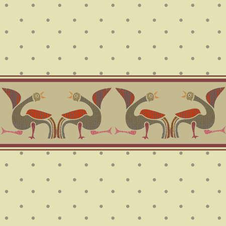 friso: Patr�n transparente y friso con birds.Vector.Wallpaper.