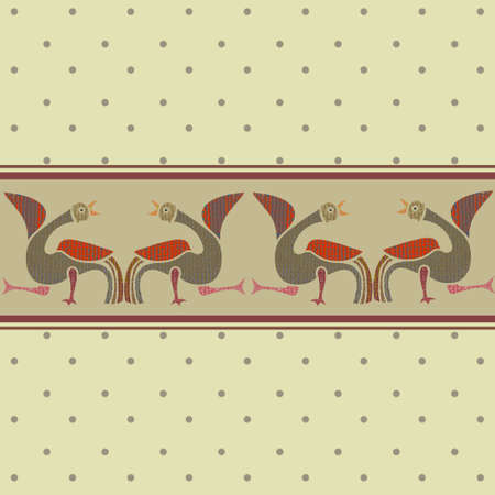 advertising material: Seamless pattern and frieze with birds.Vector.Wallpaper.