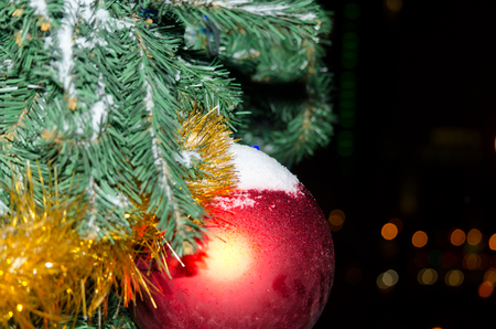 Red ball on the Christmas tree by CU