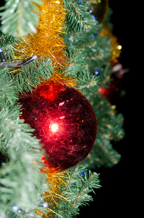 by cu: Red ball on the Christmas tree by CU