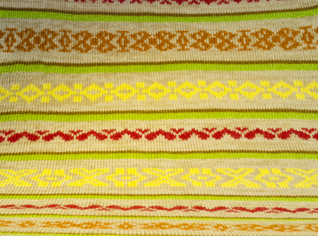 Knitted fabric made of colored yarn