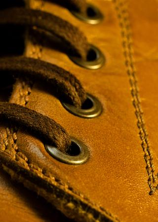 Shoelaces closeup