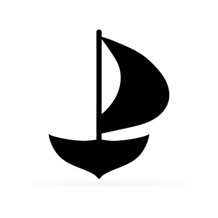 yachting synbol, sea icon, vector illustration