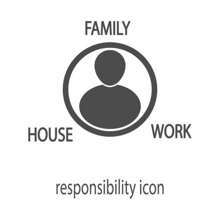 black responsibility icon, vector illustration