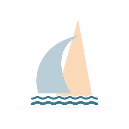 yachting synbol, sea icon, vector illustration