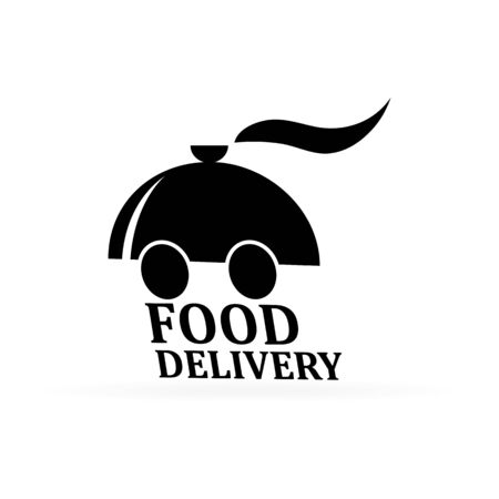 Food delivery. Tray Covered food. Restaurant cloche sketch icon for infographic, website or app. Vector illustration.