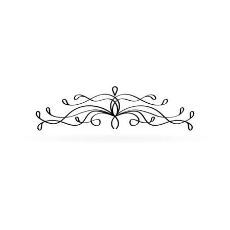 Black vintage ornament for border, frame, card etc. Vector illustration. Illustration