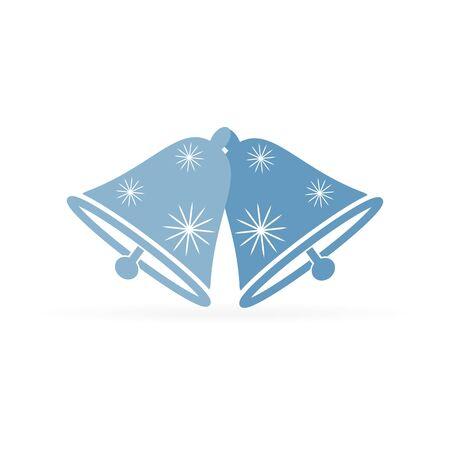 christmas bell notification icon, vector illustration