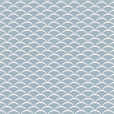 écailles de poisson ou motif vague, illustration vectorielle