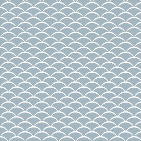 escamas de pescado o patrón de onda, ilustración vectorial