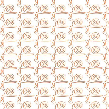 drawing snail pattern, vector illustration