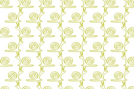 drawing snail pattern, vector illustration