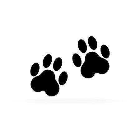 Paw print on white background. Paw print icon. Vector illustration. 向量圖像