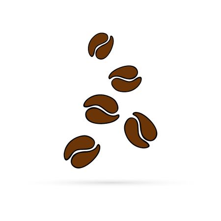 Coffee bean icon for business, marketing, internet concept. Vector symbol for website design or button to mobile app.