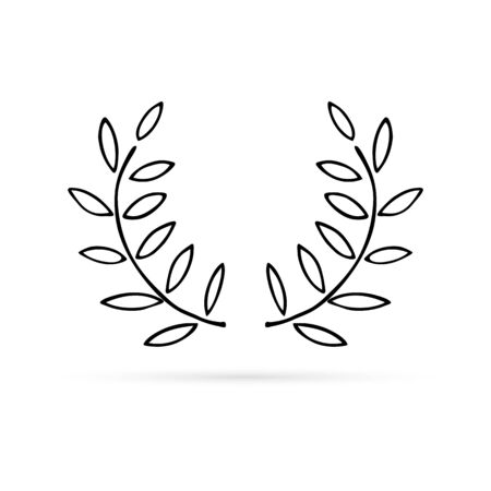 Wreaths for invitations, greeting cards, quotes, blogs, posters. Doodle leaf, frame for design. Vector illustration. Vectores