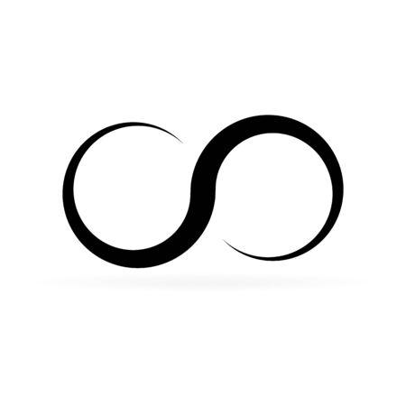 Unendlichkeitssymbol. Endlos, Lebenskonzept. Grafikdesign-Element für Karte, Symbol, Tätowierung.