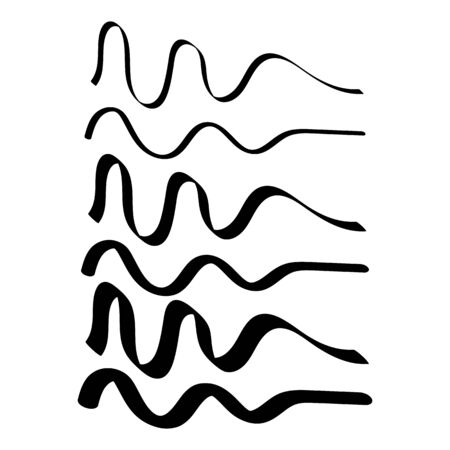 Drawing line on white background. Abstract design. ?hilds drawing. Kids style. Vector illustration. 向量圖像
