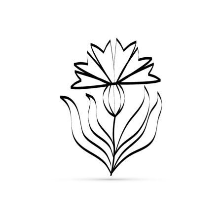 cornflowers icon, flower sign, vector illustration