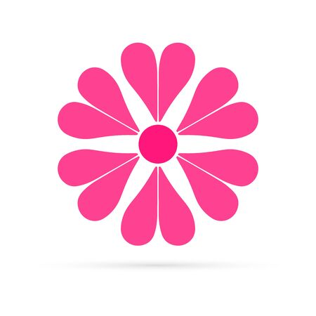 pink flower icon, vector ilustration