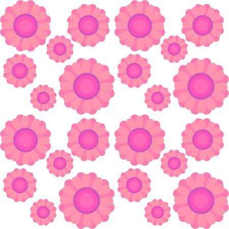 pink flower pattern, vector ilustration