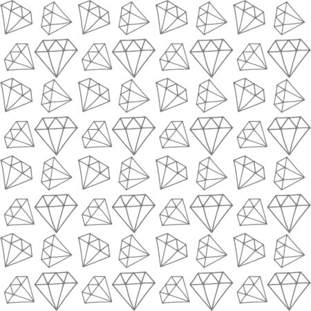 Doodle diamound pattern. Vector shapes. Advertisement design concept, gemstone icon. Crystall symbol. Kids hand drawing art line. 版權商用圖片 - 135474410