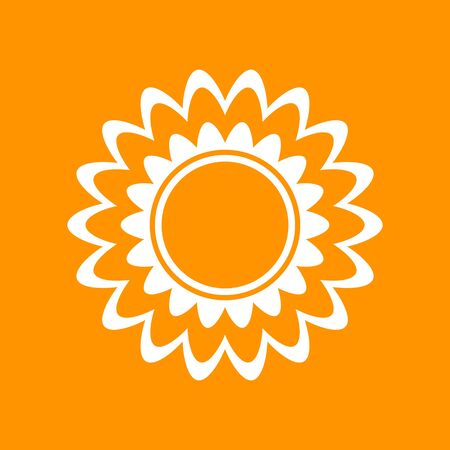 doodle flower icon, vector stock illustration