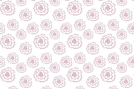 doodle rose seamless pattern isolated on white, outline kids hand drawing line art bundle, sketch flower, vector stock illustration