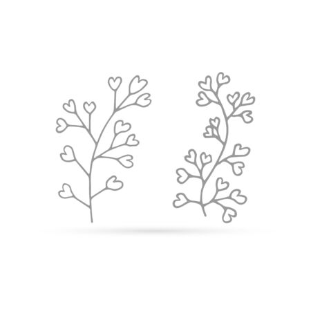 Doodle flower icon isolated on white, eco. Outline hand drawing line art. Shepherds bag for eco design, sketch flower. Coloring vector stock illustration 向量圖像