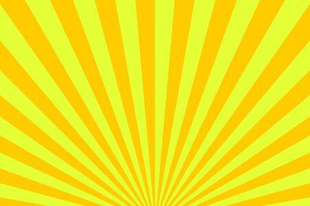 Yellow ang orange sunburst pattern. Sunburst background. Vector stock illustration Ilustração Vetorial