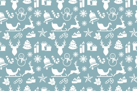 Christmas seamless pattern isolated on white. Vector stock illuctration. EPS 10 Ilustrace