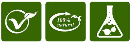 Herbal medicine set icons. Stencil eco symbols. Vector stock illustration. EPS 10