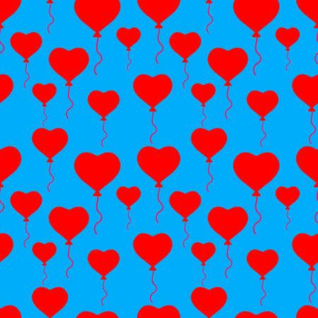 Ballon seamless pattern. Vector stock illustration. EPS 10