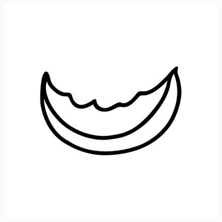 Doodle food icon isolated on white. Sketch vector stock illustration.