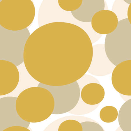 Abstract circle blots seamless pattern. Vector stock illustration. EPS 10 Çizim