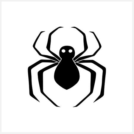 Doodle spider icon isolated on white. Halloween symbol.