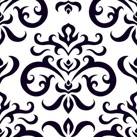 Vintage seamless pattern isolated on white. Retro vector stock illustration. Vecteurs