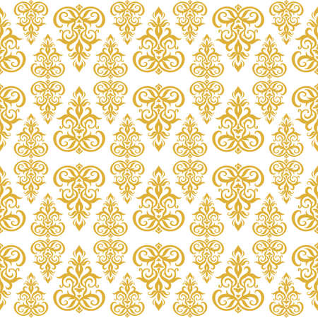Vintage seamless pattern isolated on white. Retro vector stock illustration. Banque d'images - 167008917