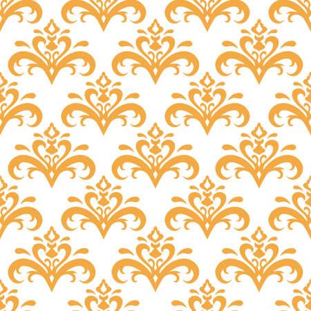 Vintage seamless pattern isolated on white. Retro vector stock illustration. EPS 10