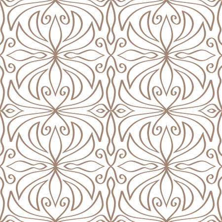 Vintage seamless pattern isolated on white. Doodle hand drawn art line. Sketch vector stock illustration.