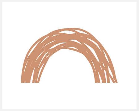 Boho rainbow icon isolated on white. Vector stock illustration. Illustration