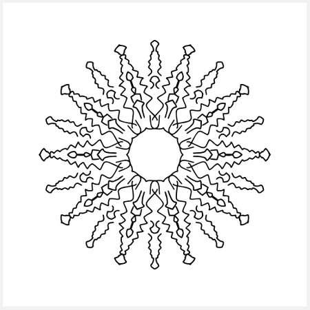 Mandala coloring book page. Sketch vector stock illustration. Illustration