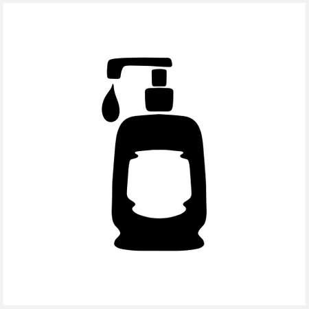 Doodle cream or soap icon.