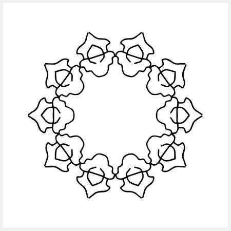 Outline frame isolated on white.