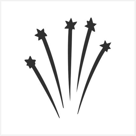 Doodle burst icon. Celebrate salute with stars. Sketch vector stock illustration.