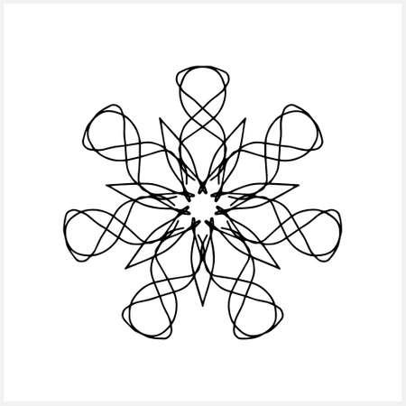 Coloring mandala. Sketch vector stock illustration. Illustration