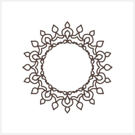 Outline frame isolated on white. Sketch vector stock illustration.