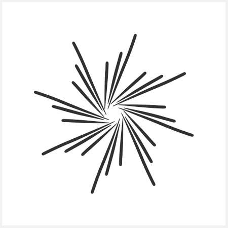 Doodle burst icon. Celebrate salute with stars. Sketch vector stock illustration. EPS 10
