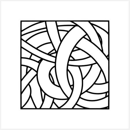 Doodle tangled ribbon pattern isolated on white. Sketch vector stock illustration. EPS10